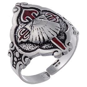 Santiago de Compostela ring in silver, adjustable s1