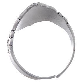 Santiago de Compostela ring in silver, adjustable s3