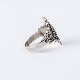 Santiago de Compostela ring in silver, adjustable s5
