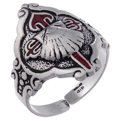 Santiago de Compostela ring in silver, adjustable 1