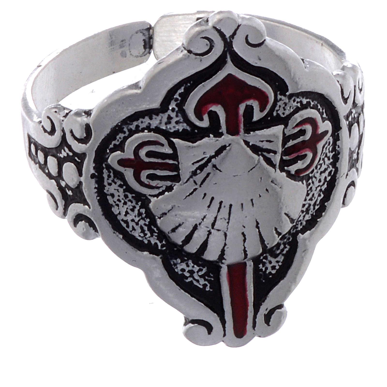 Santiago de Compostela ring in silver, adjustable 3