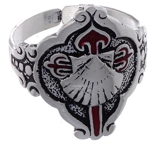 Santiago de Compostela ring in silver, adjustable 2