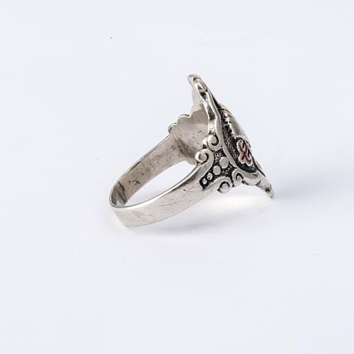 Santiago de Compostela ring in silver, adjustable 5