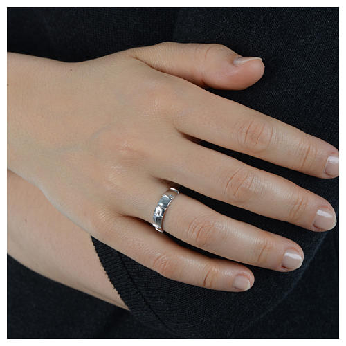Anello decina argento 925 5