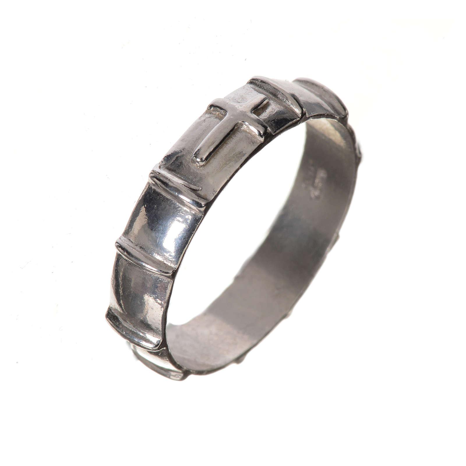 Obrączka dziesiątek różańca srebro 925 3