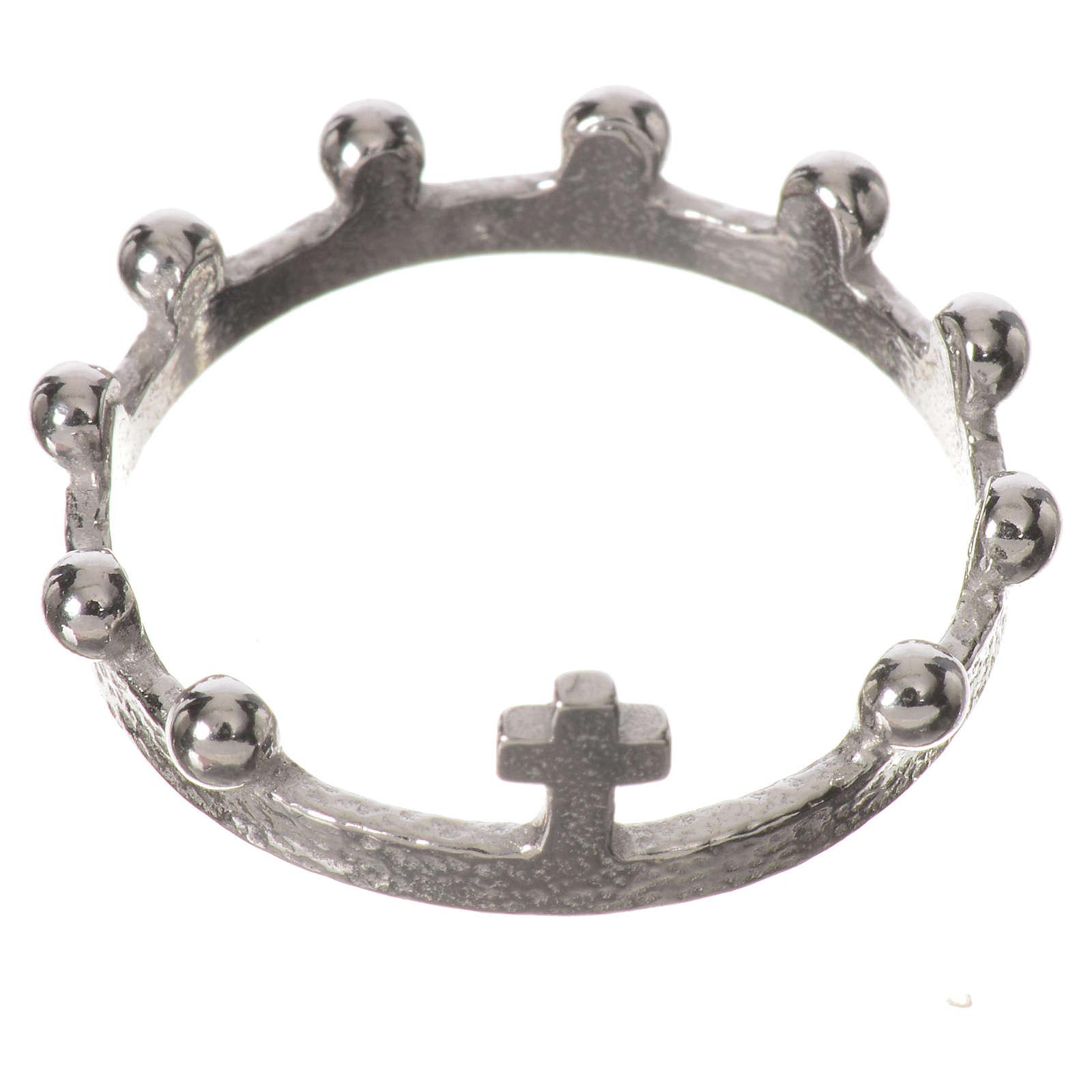 Single decade prayer ring in 925 silver 3