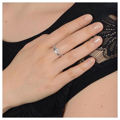 Single decade prayer ring in 925 silver 5