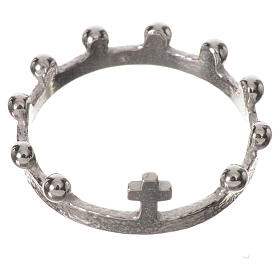 Single decade prayer ring in 925 silver s1