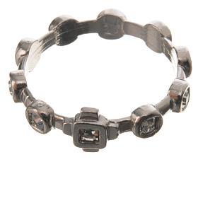 Anello decina argento 925 Swarovski trasparenti s2