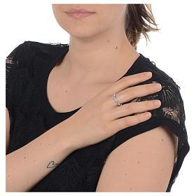 Anello decina argento 925 Swarovski trasparenti s3