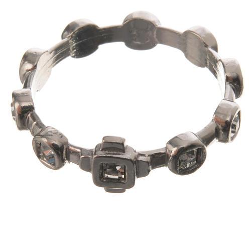 Anello decina argento 925 Swarovski trasparenti 2