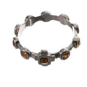 Anello decina argento 800 Swarovski gialli s2