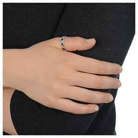 Anello decina argento 800 Swarovski neri s4
