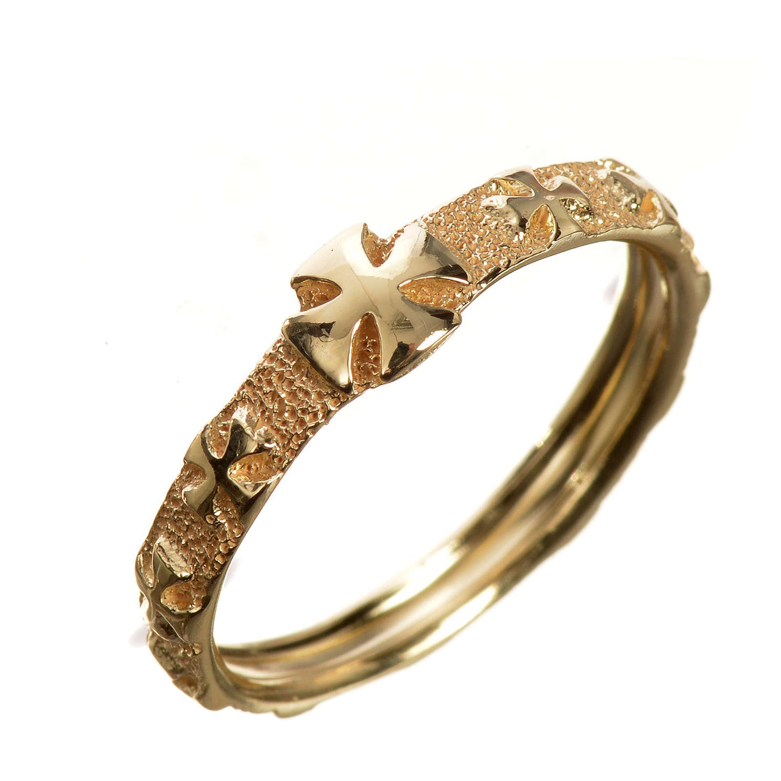 Anello decina oro 750/00 giallo - gr. 3,02 3