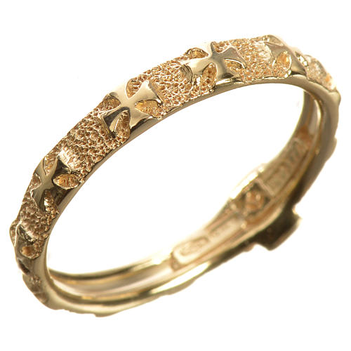 Anello decina oro 750/00 giallo - gr. 3,02 2
