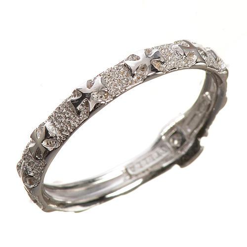 Anello decina oro 750/00 bianco - gr. 2,95 2