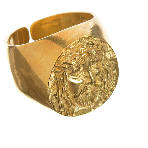 Anillo decenario de oro 750/00 rojo 2,94gr 3