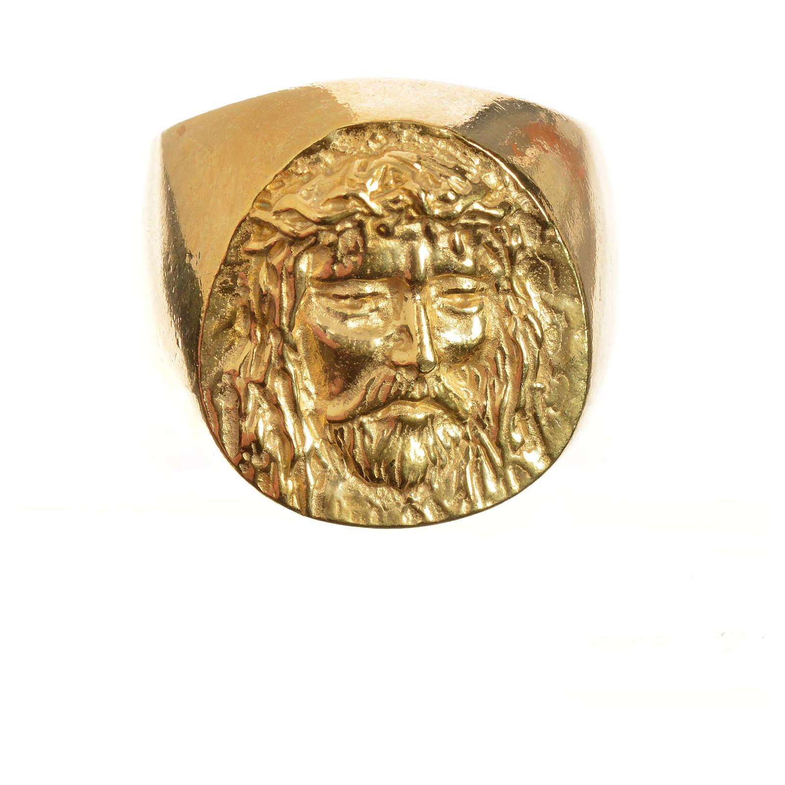 Anello decina oro 750/00 rosso - gr. 2,94 3