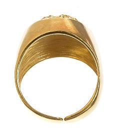 Anello decina oro 750/00 rosso - gr. 2,94 s5