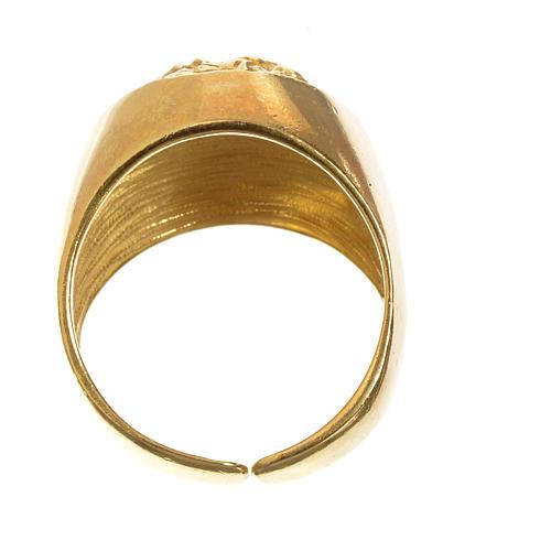 Anello decina oro 750/00 rosso - gr. 2,94 5