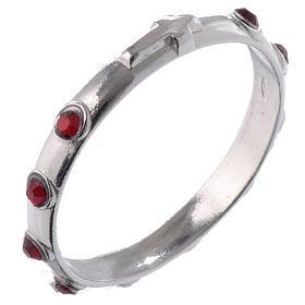 Anéis Religiosos: Aliança prata 925 e Swarovski vermelho