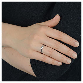 Single-decade ring in 925 silver and black Swarovski crystals s4
