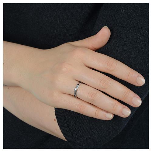 Single-decade ring in 925 silver and black Swarovski crystals 4