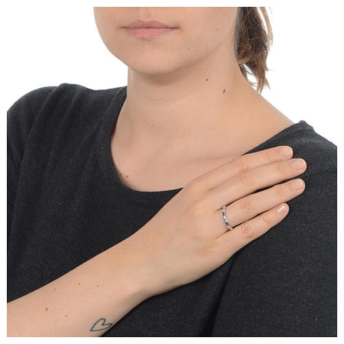 Single-decade ring in 925 silver and transparent Swarovski crystals 3
