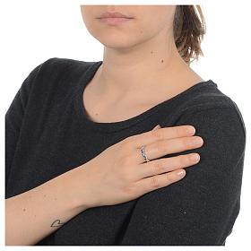 Anello rosario AMEN argento 925 zirconi neri Rodio s3