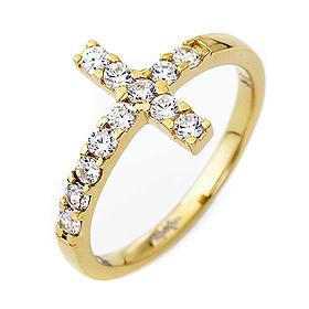 Ring von AMEN mit Kreuz aus vergoldetem 925er Silber mit weißen Zirkonen s1
