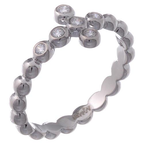 Anillo AMEN modelo Boules plata 925 con circones blancos 1