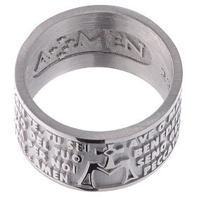 Ring AMEN Hail Mary ITALIAN Silver 925 s2