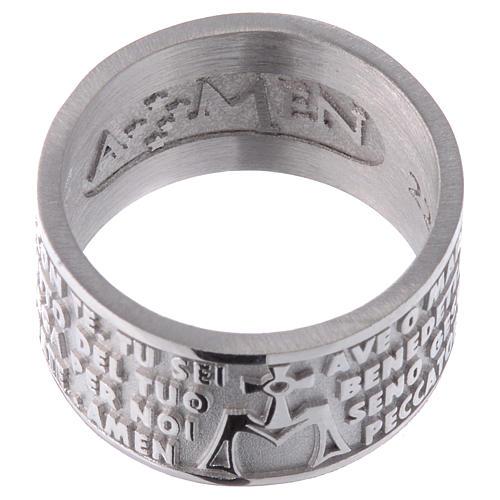 Anillo AMEN Ave Maria ITALIANO plata 925 2