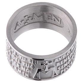Anello AMEN Ave Maria ITALIANO argento 925 s2