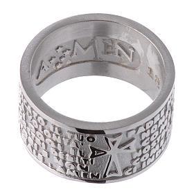 Pierścionek AMEN Ojcze Nasz w języku włoskim srebro 925 s2