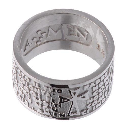 Pierścionek AMEN Ojcze Nasz w języku włoskim srebro 925 2
