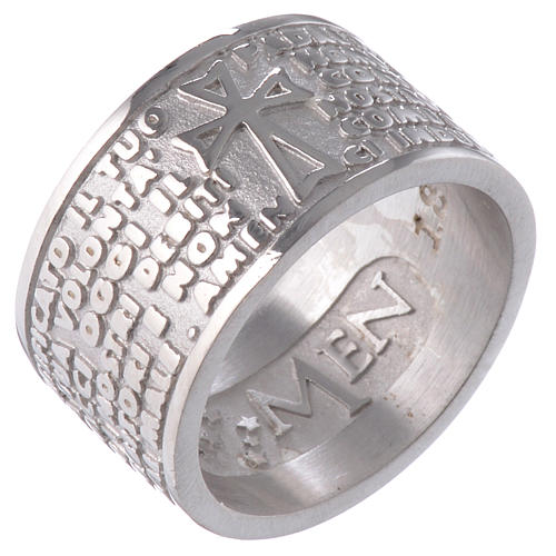 Ring AMEN Our Father ITALIAN Silver 925 1