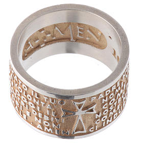 Ring AMEN Our Father ITA Silver 925, gold finish s2