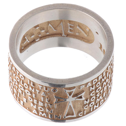 Ring AMEN Our Father ITA Silver 925, gold finish 2