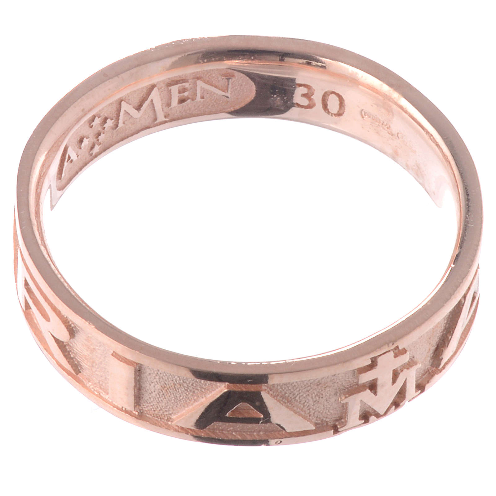 Ring AMEN Hail Mary silver 925, Rosè finish 3