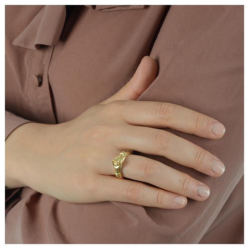 Anello Argento 800 dorato Maninfede 5