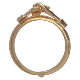 Ring in golden 800 silver with 2 hands which can be opened s2