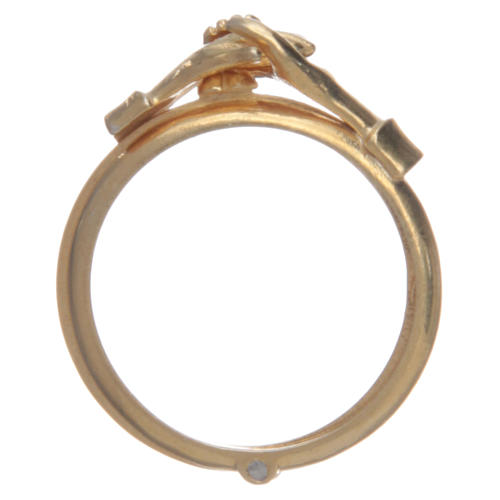 Ring in golden 800 silver with 2 hands which can be opened 2