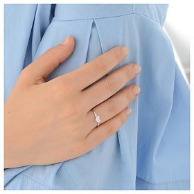 Ring AMEN Heart silver 925 Rhodium finish s4