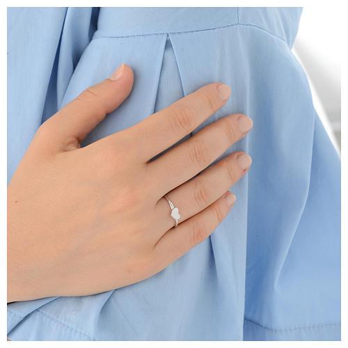 Ring AMEN Heart silver 925 Rhodium finish 4