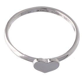 Anello AMEN Cuore argento 925 fin. Rodio s2