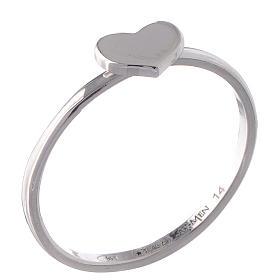 Pierścionek AMEN Serce srebro 925 wyk. Rod s1