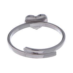 Anello AMEN Cuore falange argento 925 fin. Rodio s3