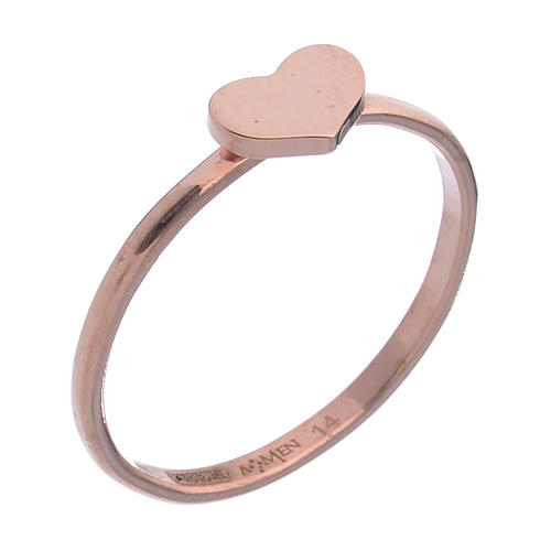 Ring AMEN Herz Silber 925 rosa 1