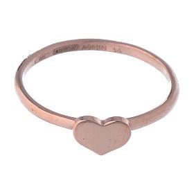 Anillo AMEN Corazón clásico plata 925 acabado rosado s2
